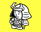 Samurái con armadura