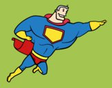 Dibujo Superhéroe grande pintado por david20125