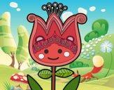 Dibujo Tulipa infantil pintado por isita_mgb