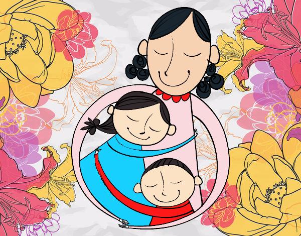 Dibujo de El amor de una madre pintado por en Dibujosnet el da