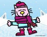 Un gato en invierno