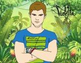 Dibujo Violetta - Diego pintado por valero