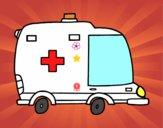 Ambulancia de perfil