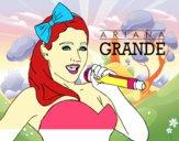 Dibujo Ariana Grande cantando pintado por rebeccam