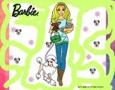 Dibujo Barbie con sus mascotas pintado por Nikki-Airi