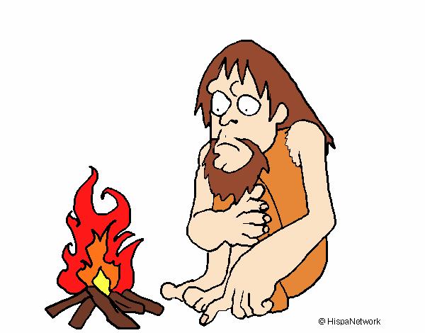 Dibujo de Descubrimiento del fuego pintado por en Dibujosnet el