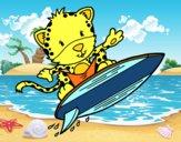 Dibujo Guepardo surfista pintado por SinaiV