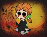 Dibujo Niña terrorífica pintado por Creepy