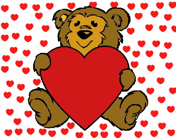 Dibujo de amor de osos pintado por en Dibujosnet el da 270415
