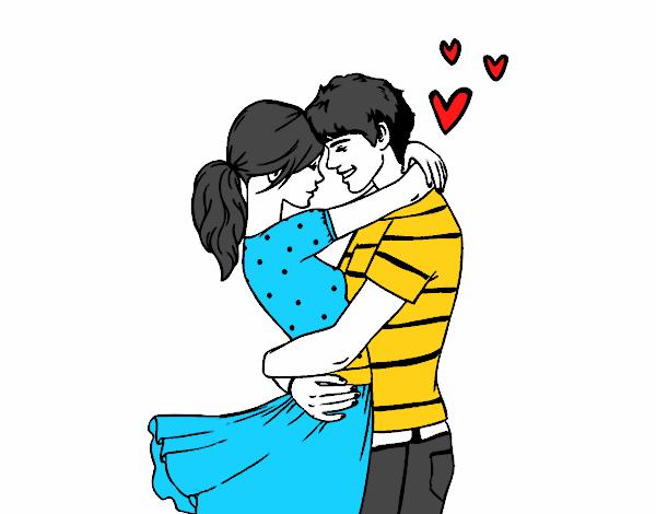 Dibujo de Estar enamorado es pintado por en Dibujos.net el