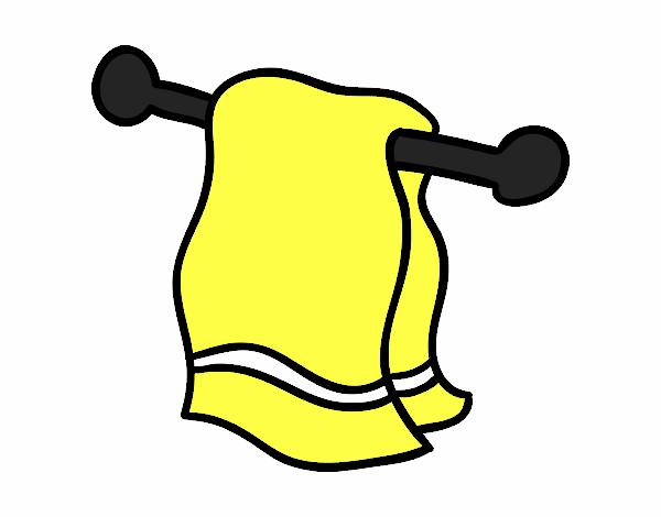 Dibujo de toalla pintado por en el d a 30 04 for Colgador de toalla para bano