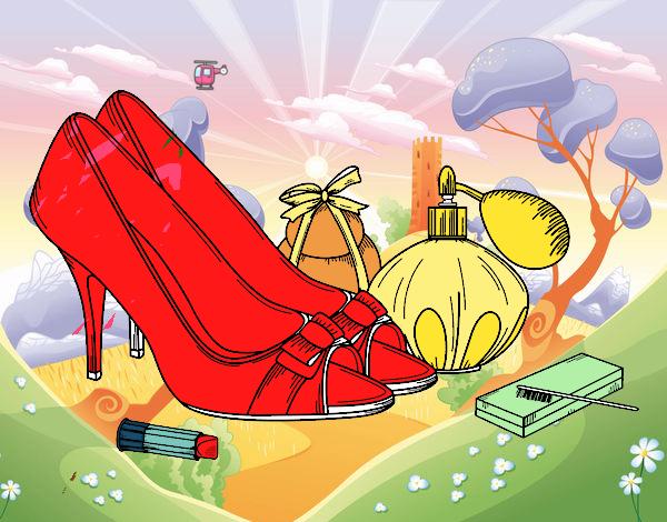 Zapatos y maquillaje Pintado por Usuario no registrado el 28 de Abril ...