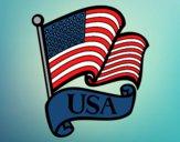 Dibujo Bandera de los Estados Unidos pintado por Yeric12