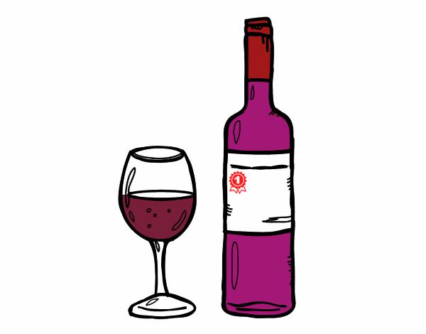Copas Con Dibujos Dibujo De Botella De Vino Y Copa Pintado