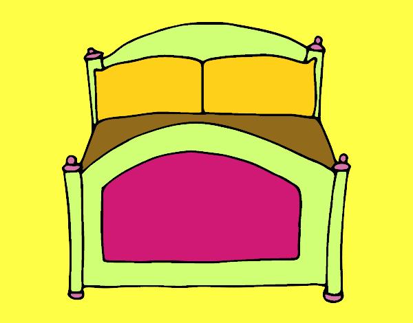 Dibujo de cama pintado por en el d a 08 05 15 for Cama 3d dibujo