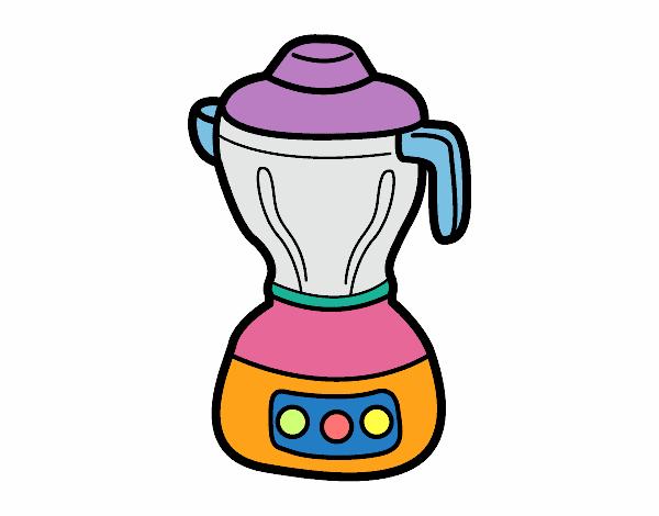 Dibujo de licuadora pintado por en el d a 05 for Utensilios de cocina licuadora