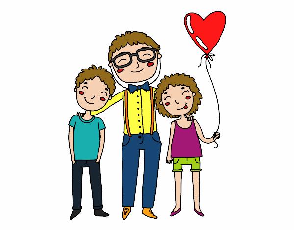 Imagenes De Papas E Hijos Dibujo De Padre E Hija Para