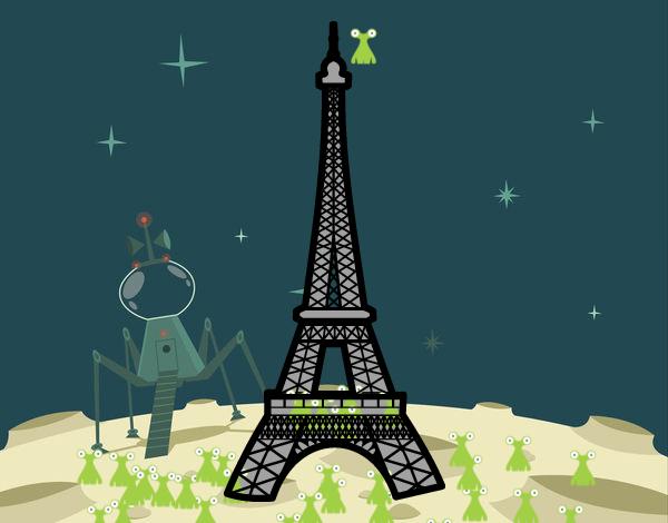 Torre Eiffel Dibujo Animado A Color: Dibujo De Torre Eiffel Para Colorear Dibujos De Culturas