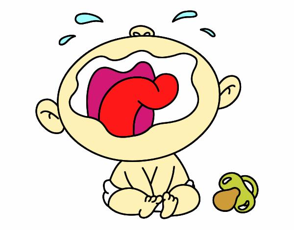Dibujo de ni o llorando imagui - Dibujos pared bebe ...