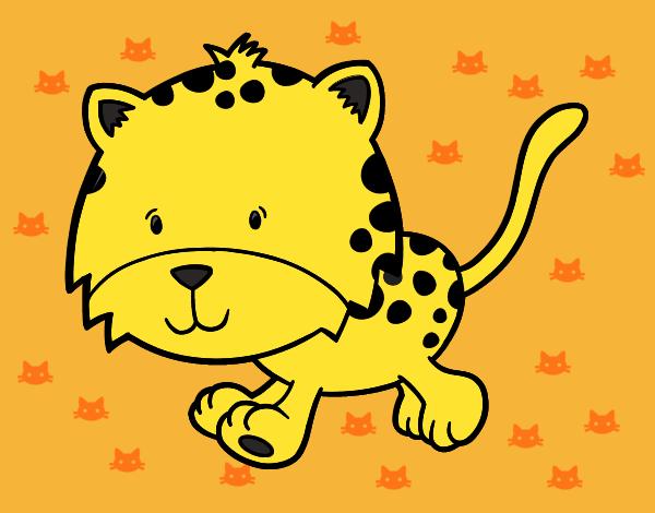 Dibujos De Animales Adorables Para Colorear: Dibujo De El Leopardo Mas Adorable Pintado Por En Dibujos