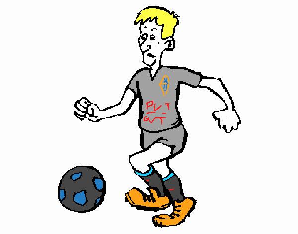 Dibujo De Jugador De Fútbol Con Balón Pintado Por Chicoxd: Dibujo De Jugador De Fútbol Pintado Por En Dibujos.net El