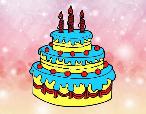 Dibujo de Tarta de cumpleaños pintado por en Dibujos.net ...
