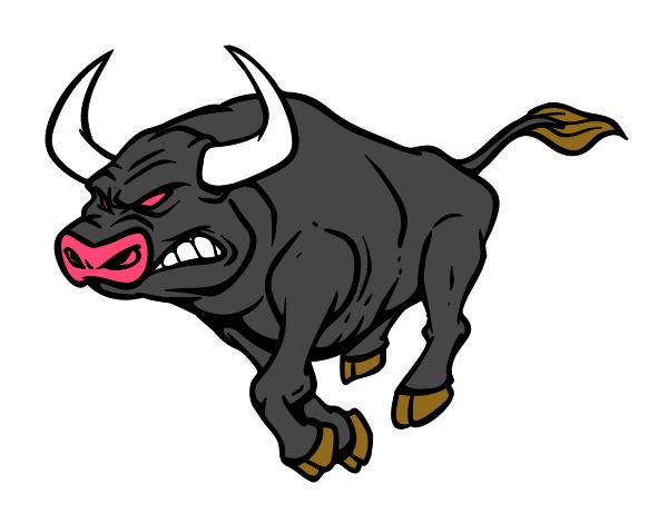 Gallos Coloridos Dibujos Animados: Dibujo De Toro Furioso Pintado Por En Dibujos.net El Día