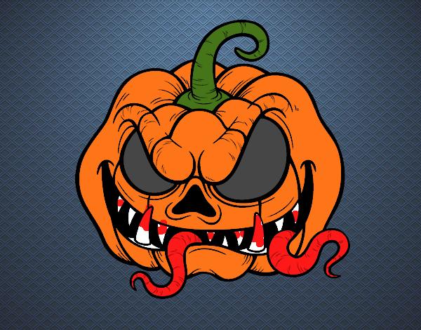 calabazas terrorificas para halloween dibujos
