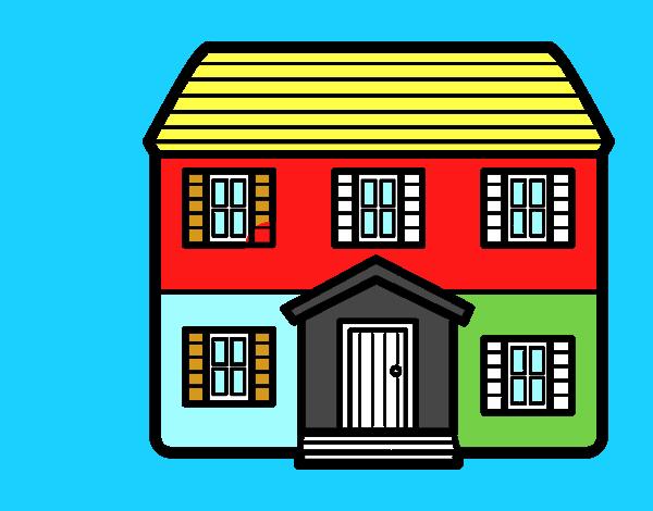 piso para colorear dibujo de casa con dos pisos pintado por en el d a 24 05 15 a las 17 59 16 imprime