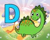 Dibujo D de Dinosaurio pintado por queyla