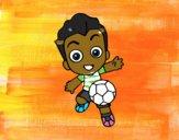 Dibujo Jugando a fútbol pintado por krusty
