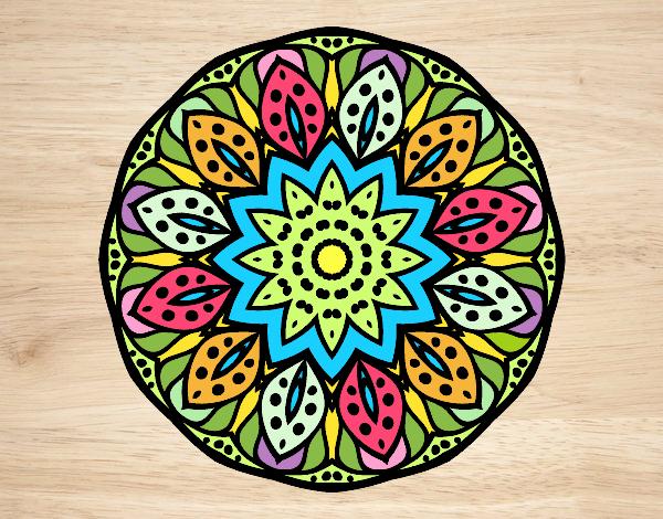 Dibujo de Mandala naturaleza pintado por Mari89 en Dibujosnet el
