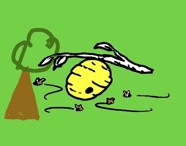 Dibujo De Panal De Abejas Pintado Por En Dibujos.net El