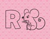 Dibujo R de Ratón pintado por queyla