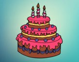 Dibujo Tarta de cumpleaños pintado por AnaStones