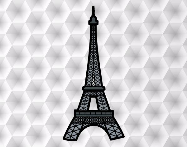 Torre Ifel En Dibujo: Dibujo De Torre Eiffel Pintado Por Valeterry En Dibujos