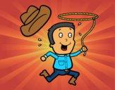 Vaquero con cuerda