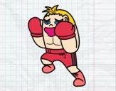 Boxeador defendiendo