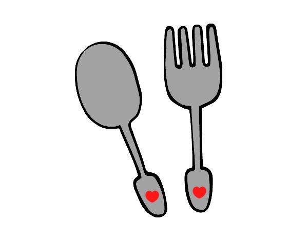 Dibujo de cubiertos pintado por en el d a 29 for La cocina de dibujos pdf