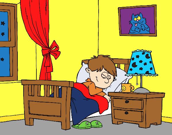 Resultat d'imatges de dibujo niños durmiendo