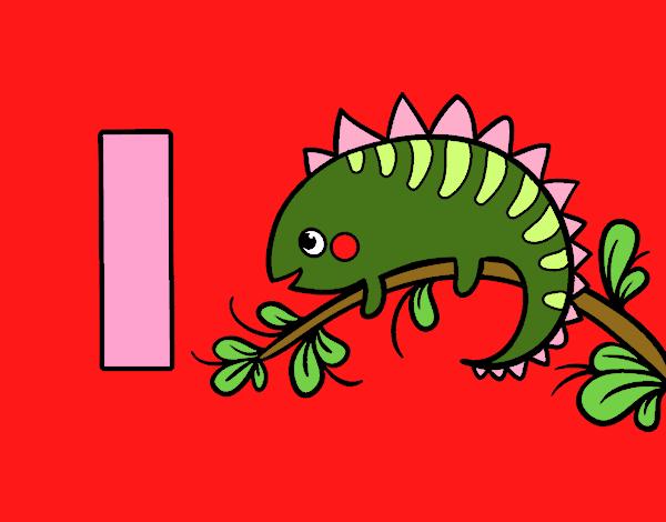 Dibujo de I de Iguana pintado por Anto05 en Dibujosnet el da 27
