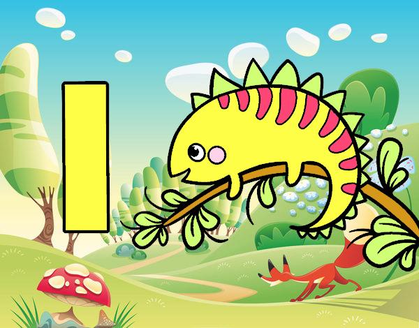 Dibujo de I de Iguana pintado por Estrelavip en Dibujosnet el da