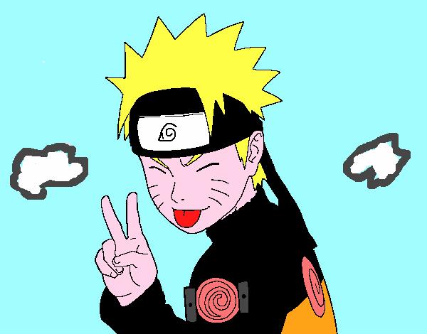 Dibujo de Naruto sacando lengua pintado por Folagor en Dibujosnet