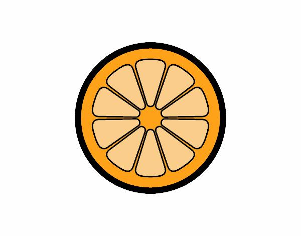 Dibujo de Rodaja de naranja pintado por en Dibujosnet el da 27