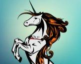 Dibujo Unicornio mágico pintado por queyla
