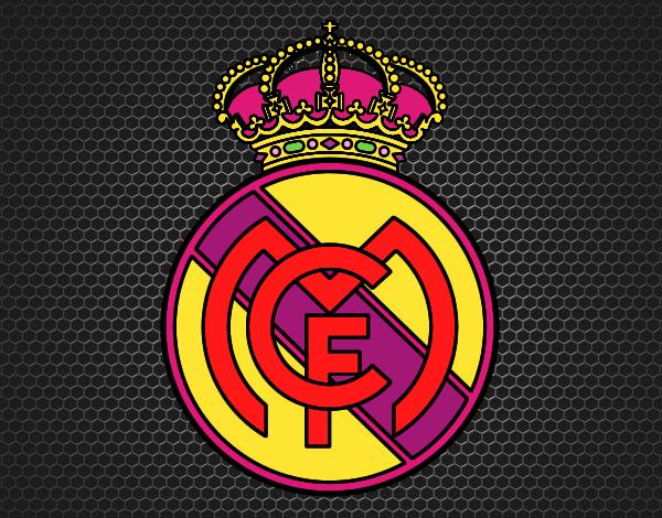 Dibujos Para Colorear Escudo Real Madrid: Dibujo De Escudo Del Real Madrid C.F. Pintado Por Tilditus