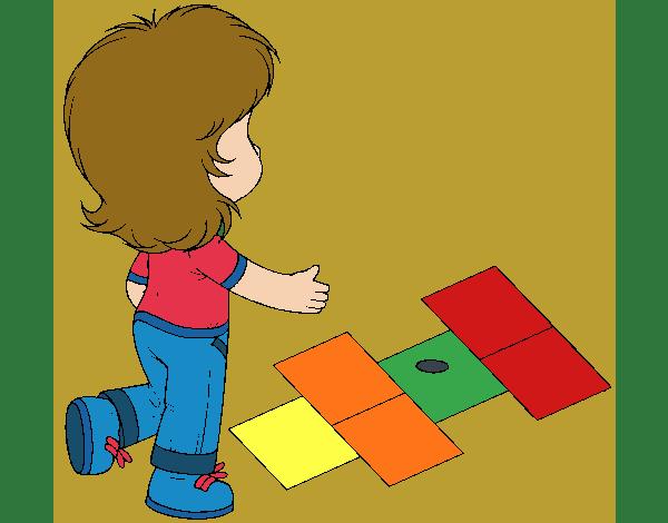 Rayuela Dibujo Para Colorear E Imprimir: Dibujo De Rayuela Pintado Por Queyla En Dibujos.net El Día