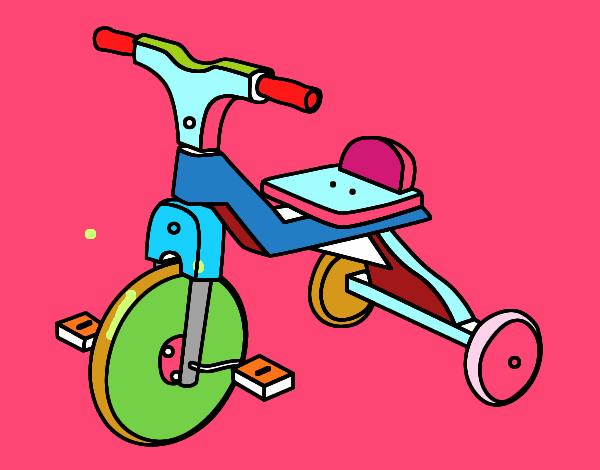 Dibujo de triciclo infantil pintado por en el for Dibujos infantiles pintados
