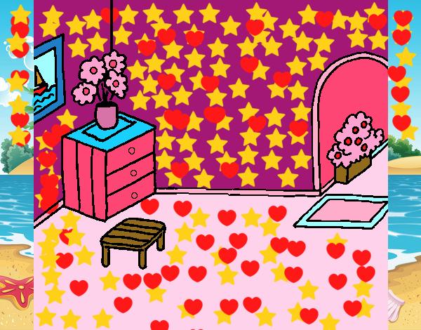 Dibujo De Casa Por Dentro Pintado Por Amalia En Dibujos