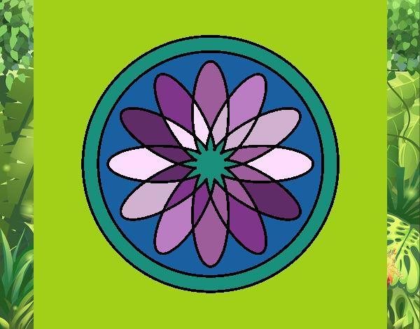 34 Mandalas Para Imprimir Y Colorear: Dibujo De Mandala 34 Pintado Por En Dibujos.net El Día 16